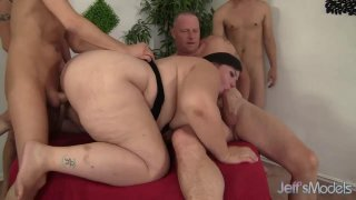 Insatiable BBW Becki Butterfly Is Gangbanged by Five Horny Bastards Thumbnail