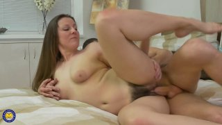 Big booty mature MILFs have sex with horny young guys Thumbnail