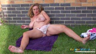 EuropeMaturE Camilla Creampie Solo Masturbation Thumbnail