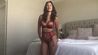 Busty Latina masturbates before anal Thumbnail