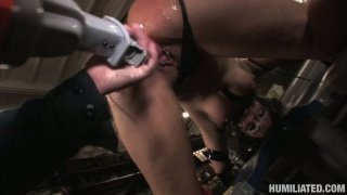Whorish cunt Charley Chase gets bounded and fucked by weird dildo device Thumbnail